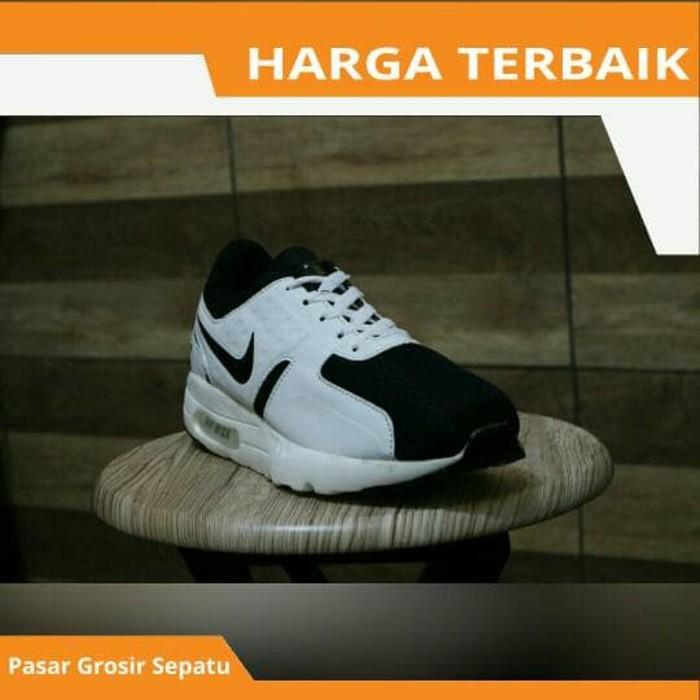 Sepatu Sport Nike Airmax Zero One Olahraga Lari Running Anak Pria Laki Cowo Putih  Hitam Keren Murah  2d6b30bba0