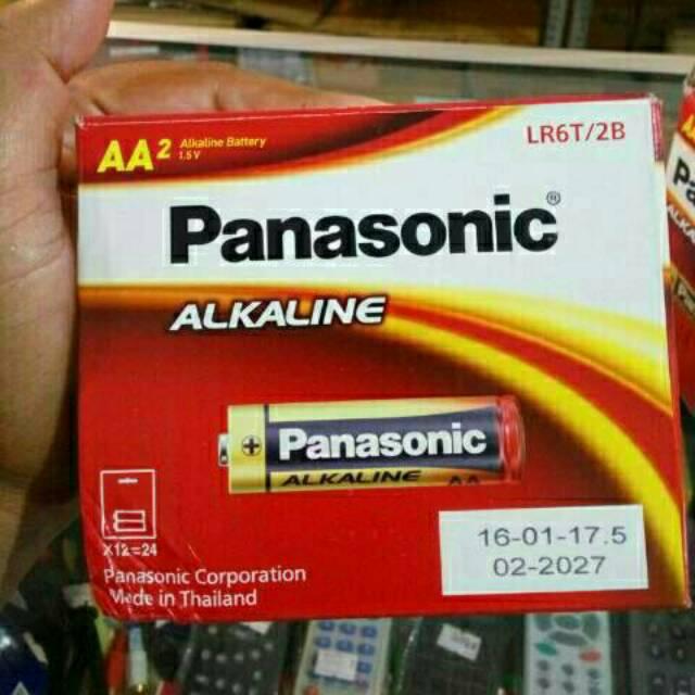 Per dus isi 12 strip Baterai batre batrai alkalin alkaline aa a2 panasonic  ori original asli  ecce613cb0