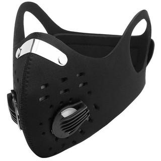 Masker kain Kn95 Dual Filter bahan scuba biking sepeda