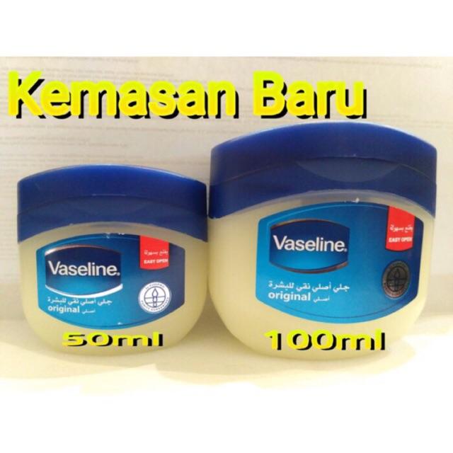 Vaseline Pure Petroleum Jelly 60ml Vaseline Arab Original Petrolatum Shopee Indonesia