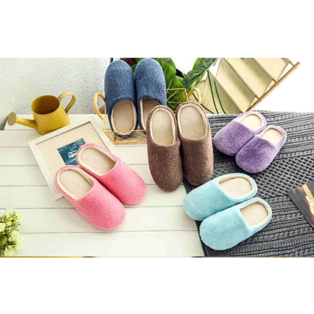 Women S Slippers Cute Slippers Shoes Non Slip Furry Slippers Women S Bedroom Shopee Indonesia