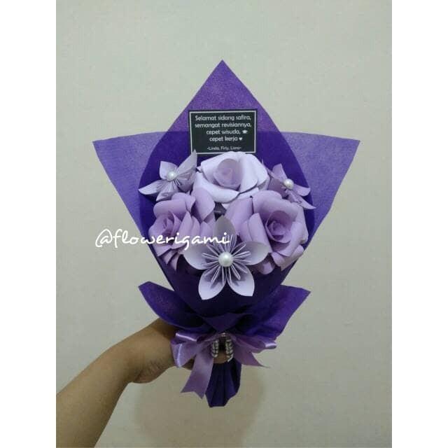 Promo Buket Bunga Mawar Origami Menarik Shopee Indonesia