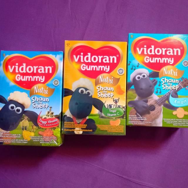 Vidoran gummy multivitamin/ vitamin C/ vitamin anak/ frugie/ xmart | Shopee Indonesia