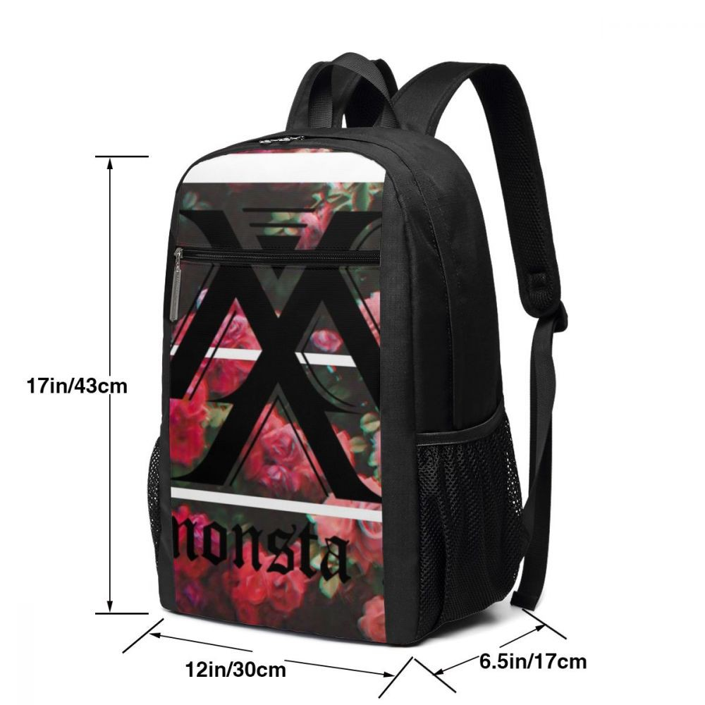 Monsta X Backpack Monsta X Aesthetic Logo Backpacks High Quality Pattern Bag Student Street Mens Shopee Indonesia