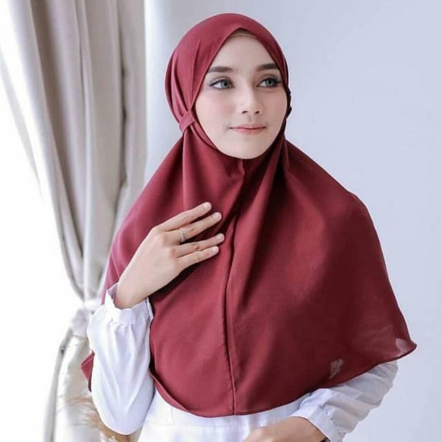 Jilbab Bergo Maryam Khimar Mariam Diamond Shopee Indonesia