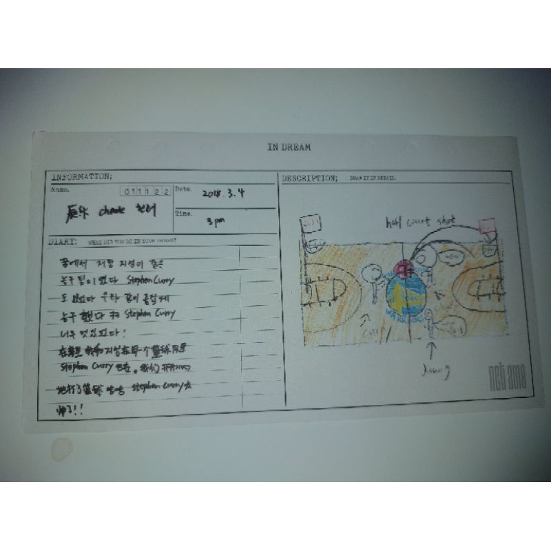 Diary NCT 2018 Empathy Dream Chenle