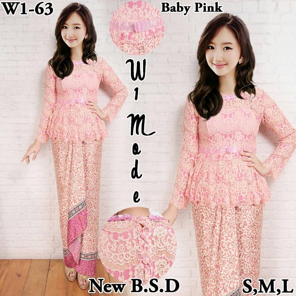 kebaya wisuda baby pink  0f3c50c642