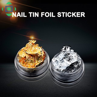 [Bayar Di Tempat]Stiker Foil Glitter Emas Silver 3D untuk Dekorasi Manicure DIY 2