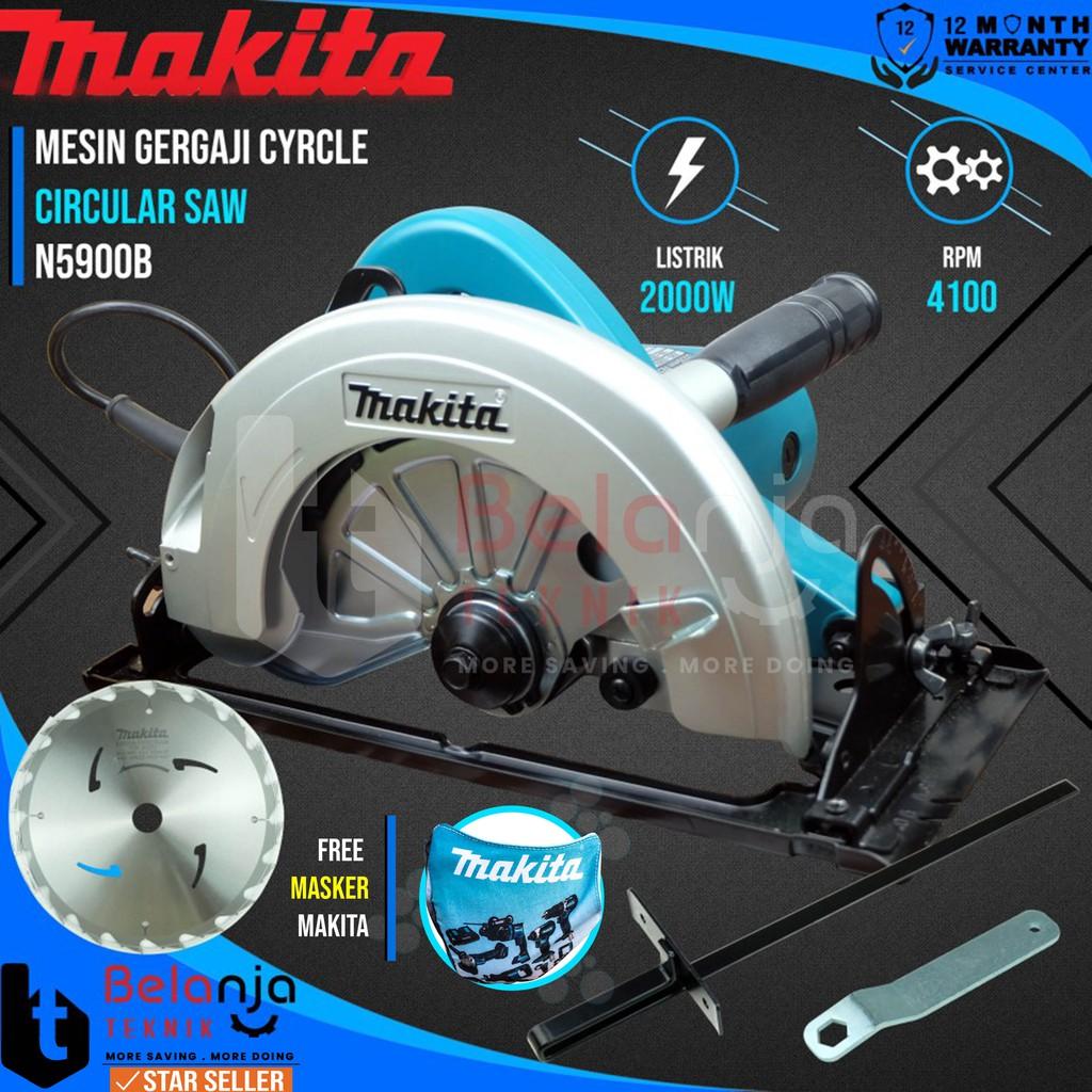 Makita Mesin Potong Kayu N 5900 B Circular Saw 2000 W 9 Inch N5900B