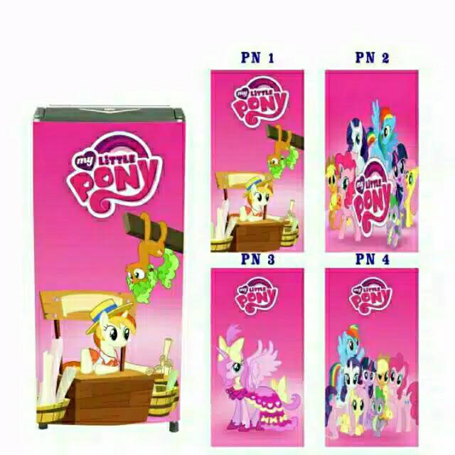 Sticker Kulkas 1 Pintu 2 Pintu Motif Kuda Pony Shopee Indonesia