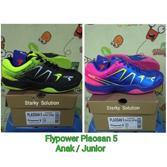BADMINTON CUP ! Sepatu Flypower Plaosan 5 Anak Junior Original ... bfcb5b7051