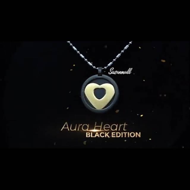 Kalung Kesehatan MCI NEW AURA HEART BLACK GOLD TERBARU AURAHEART HITAM ION TINGGI TERAPI KANKER