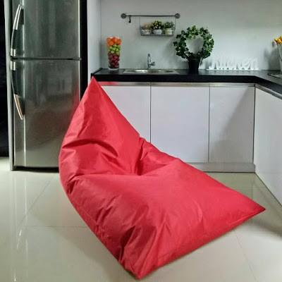 Groovy Cover Ataw Sarung Bean Bag Triangle Bahan Polyster Machost Co Dining Chair Design Ideas Machostcouk