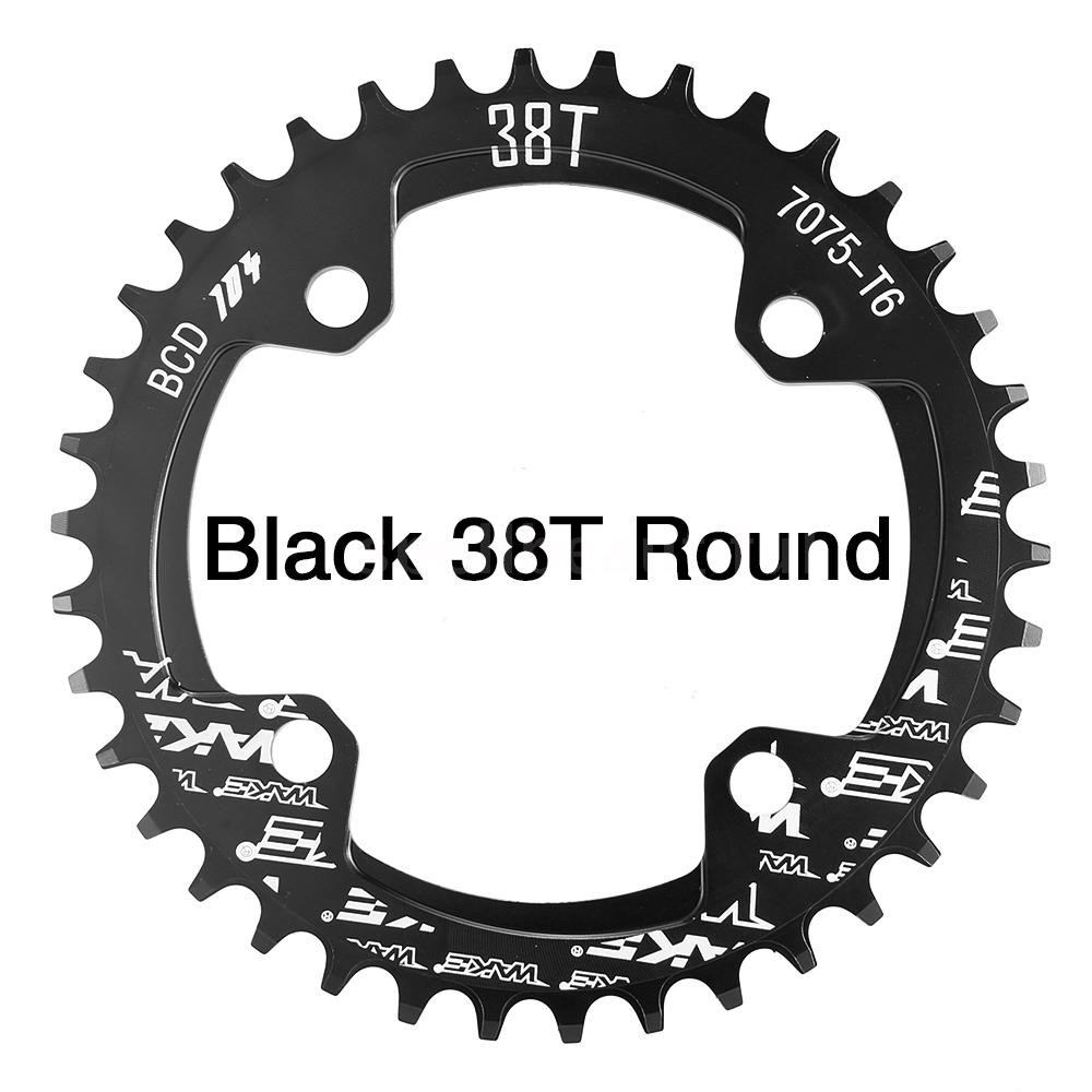 MTB XC Bike Narrow Wide Round Oval Chainring Chain Ring BCD 104mm 32 34 36 38T
