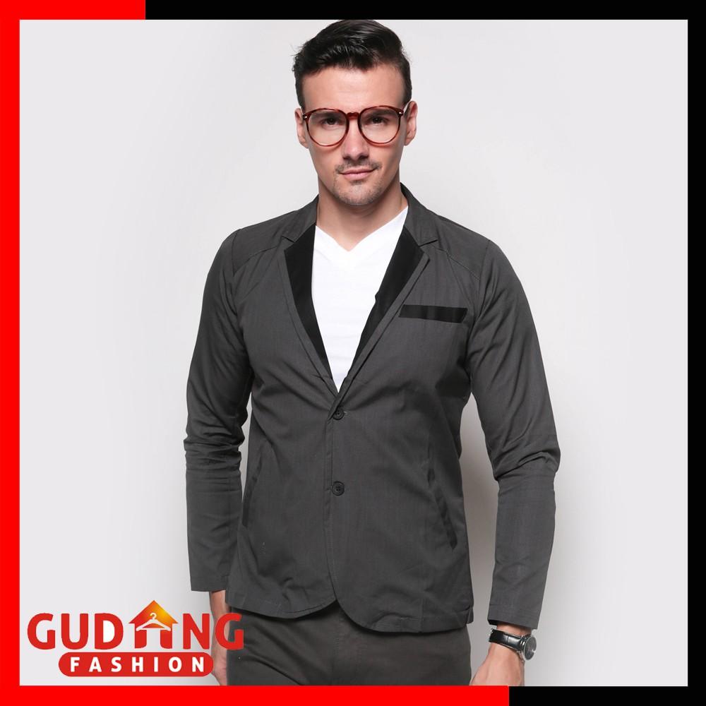 Mens Blazer Casual Blz 753 Shopee Indonesia Fashion Trendy Slimfit Korea 602