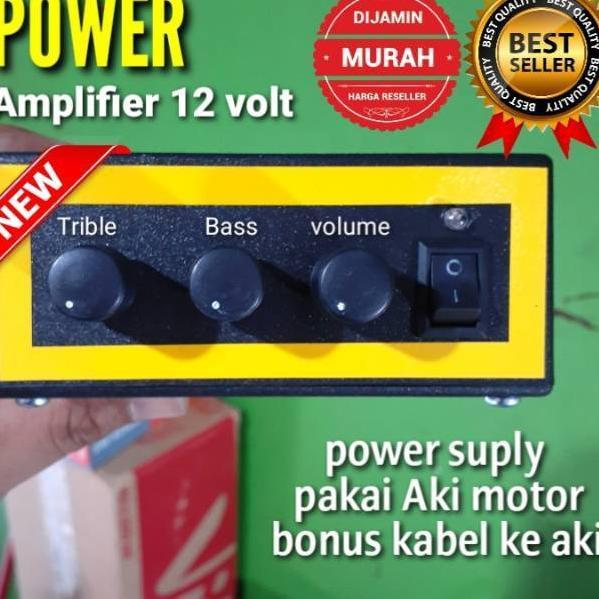 [KODE Y987] POWER AMPLI mini 12 VOLT UNTUK MOTOR  DAN MOBIL tanpa adaptor
