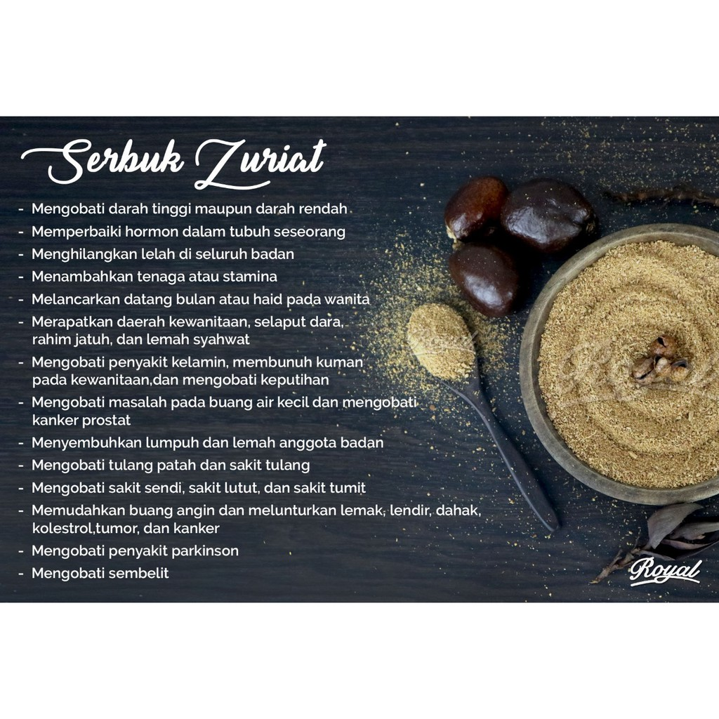 Bubuk Buah Zuriat Al Maliki 500gr 500 Gram 1 2 Kg Serbuk Doum Promil Import  Satuan Shopee Indonesia