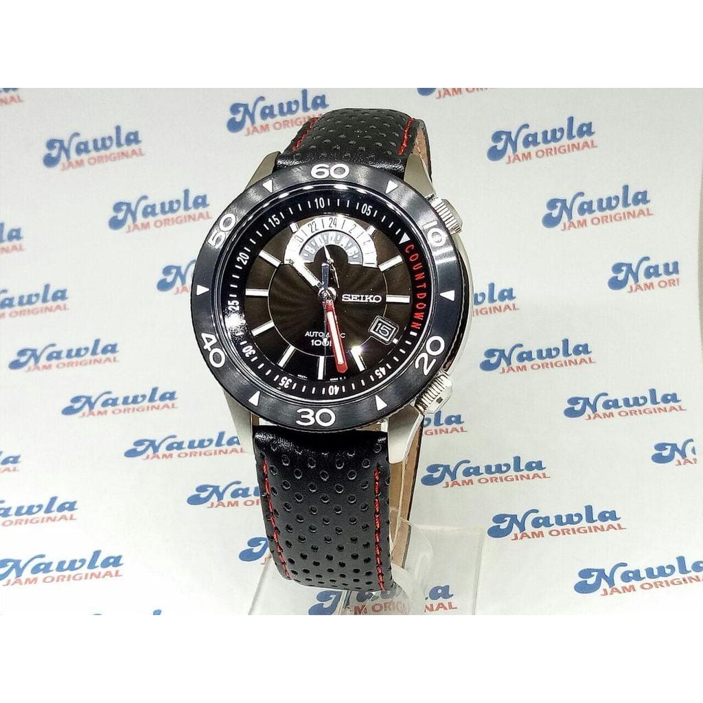 Seiko Superior Ssa185k1 Black Dial Leather Jam Tangan Pria Ssa185 Ssa059k1 Automatic Canvas Strap Limited Edition