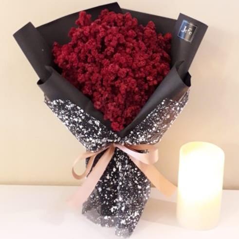 Big Bouquet Elegant Edelweis Rangkaian Bunga Abadi Besar Cantik