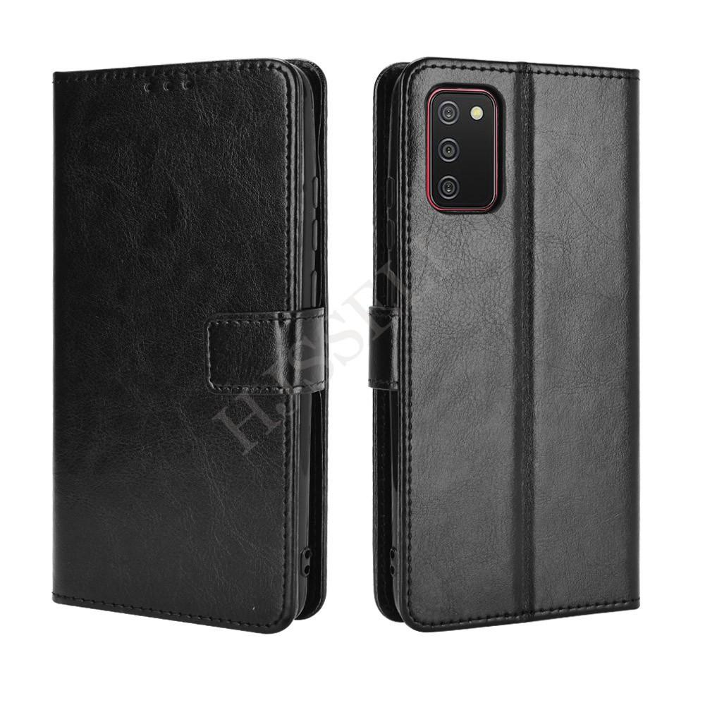 Samsung Galaxy A02s Casing Kulit PU Lipat Magnetik Untuk HP Samsung Galaxy A02s A 02s GalaxyA02s Wallet Flip Case