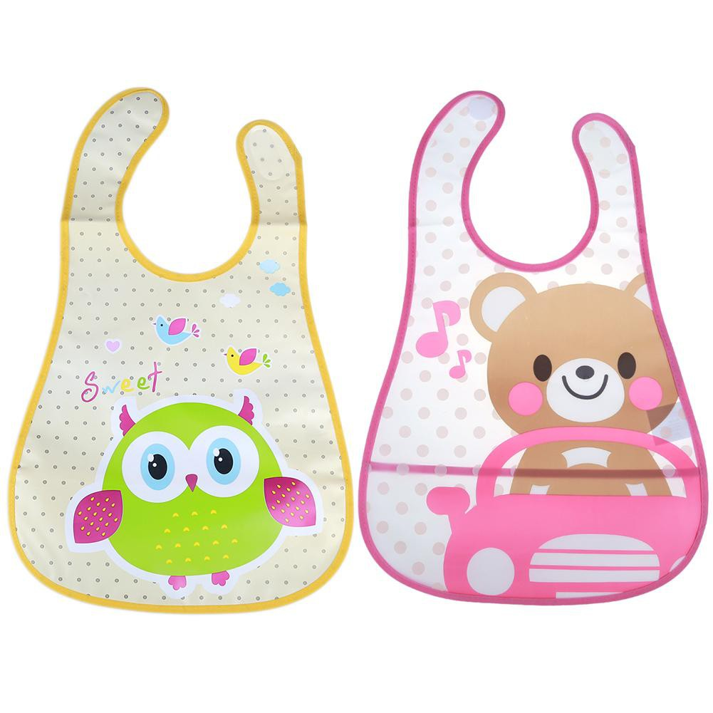 Baby Boy Girl Bibs Waterproof Saliva Towel Kids Cartoon Bib Feeding Bandana