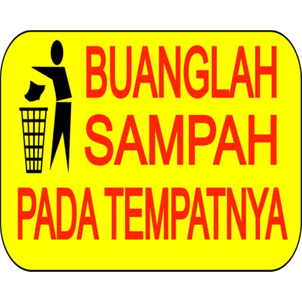 Poster Jagalah Kebersihan Buanglah Sampah Pada Tempatnya 40x50 Cm Shopee Indonesia
