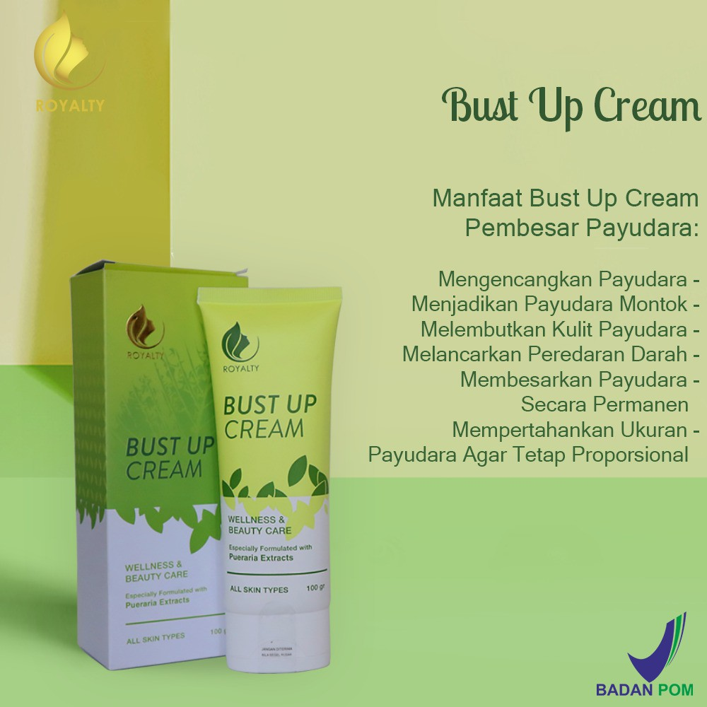 Krim Pembesar Payudara  Alami Bust Up Cream Product Best Seller Asli Variant Royalty Shopee Indonesia