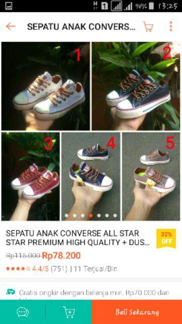 ORIGINAL Sepatu Anak Converse Chuck Taylor All Star Hi. Source · 2018-11-08  14 26 f16f9a1d06
