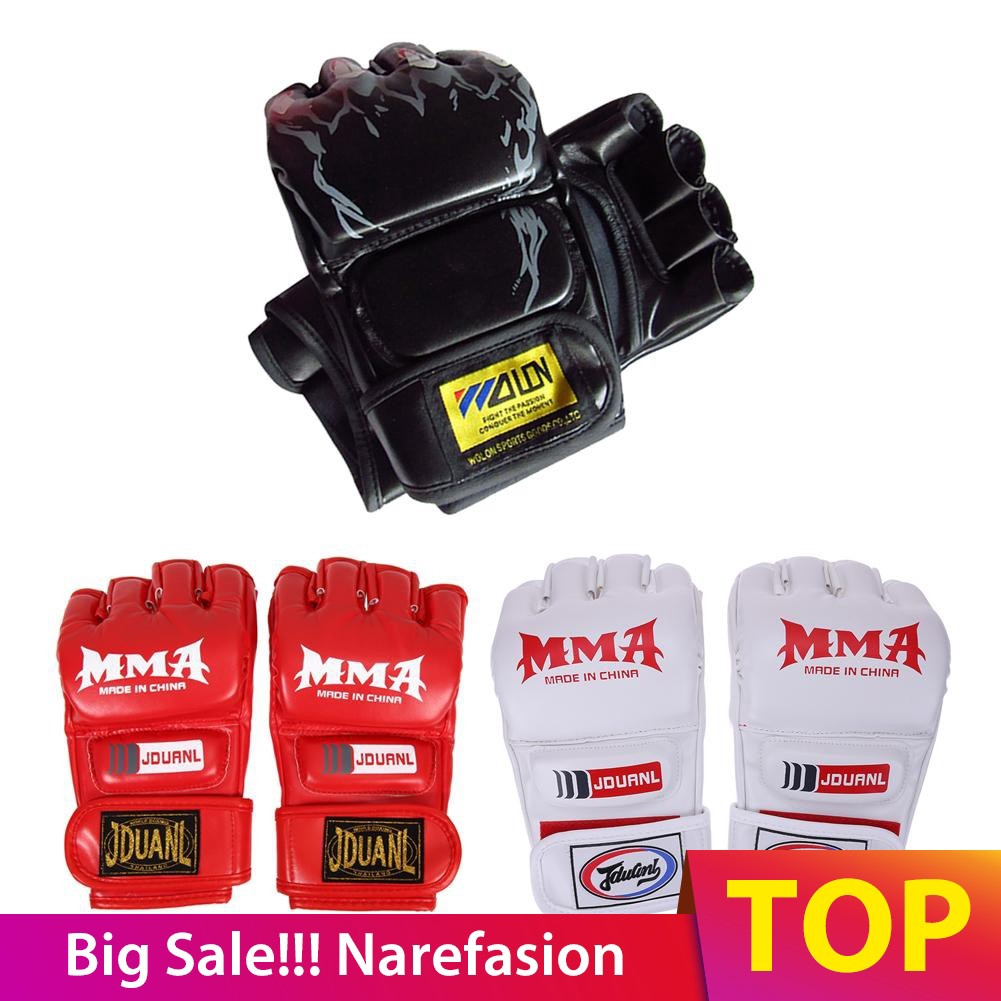 Adjustable Boxing Gloves Punching Bag Mitts for MMA Muay thai Training 10 oz