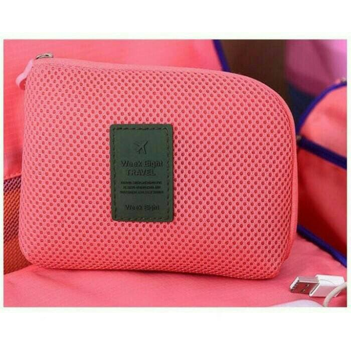Dompet shockproof Mesh Travel Organizer Cable Pouch (SMALL) - Kuning | Shopee Indonesia