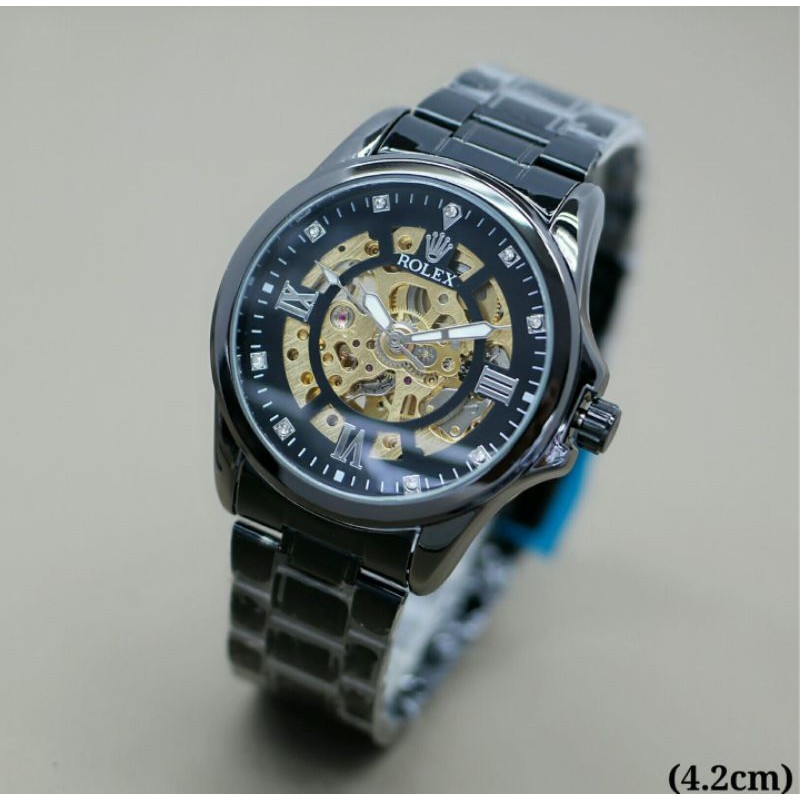 jam tangan pria rolex mesin otomatis kw