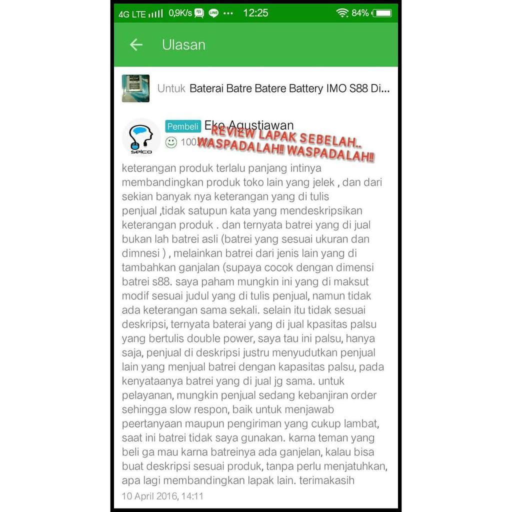 Imo Temukan Harga Dan Penawaran Online Terbaik September 2018 Rakkipanda Battery For Discovery S88 Shopee Indonesia