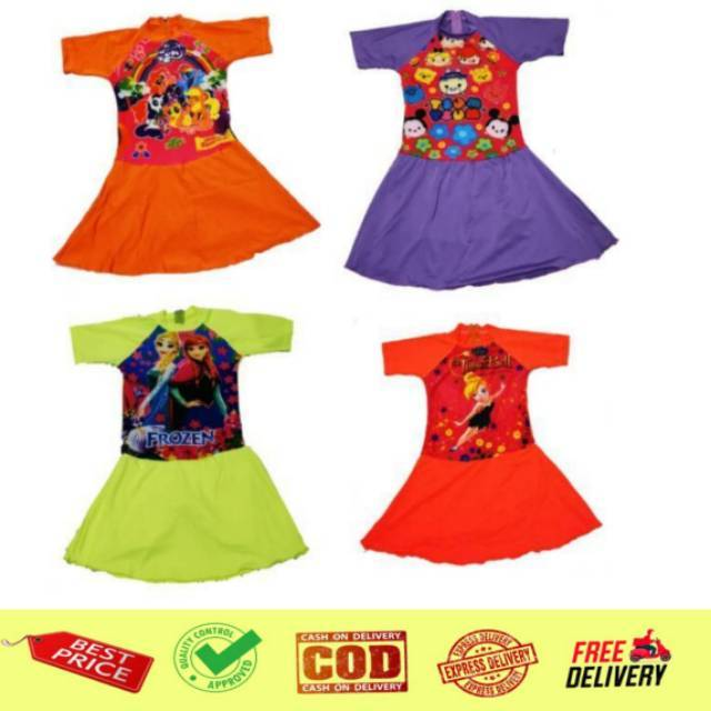Baju Renang Rok Celana Anak SD Cewek Karakter (perkiraan 5