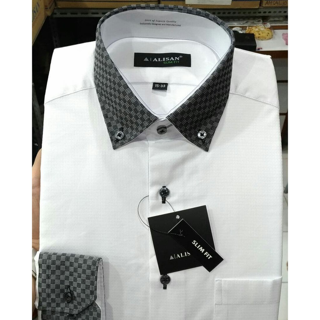 Toko Online Abedsaragih Store Shopee Indonesia Kemeja Santa Ricci Polos Panjang Slim Fit