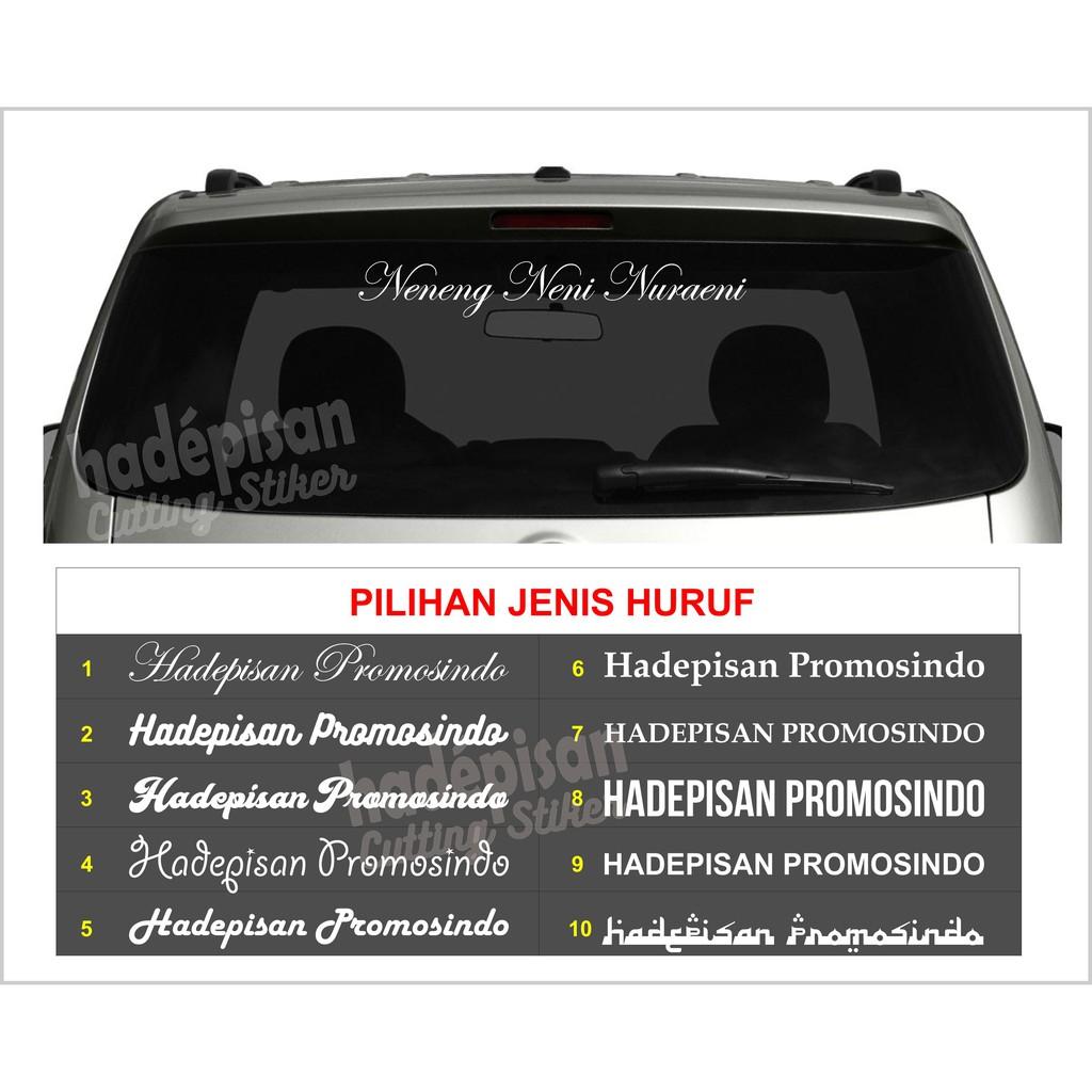 Stiker mobil custom nama cutting sticker balap racing drift variasi bendera indonesia modifikasi shopee indonesia