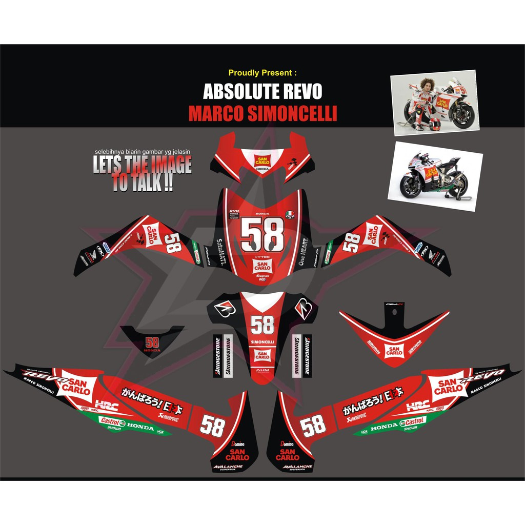 Sticker striping sticker motor honda revo repsol design qlty a full body shopee indonesia