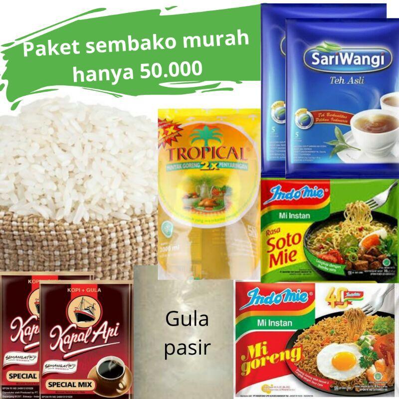 paket sembako murah beras kopi
