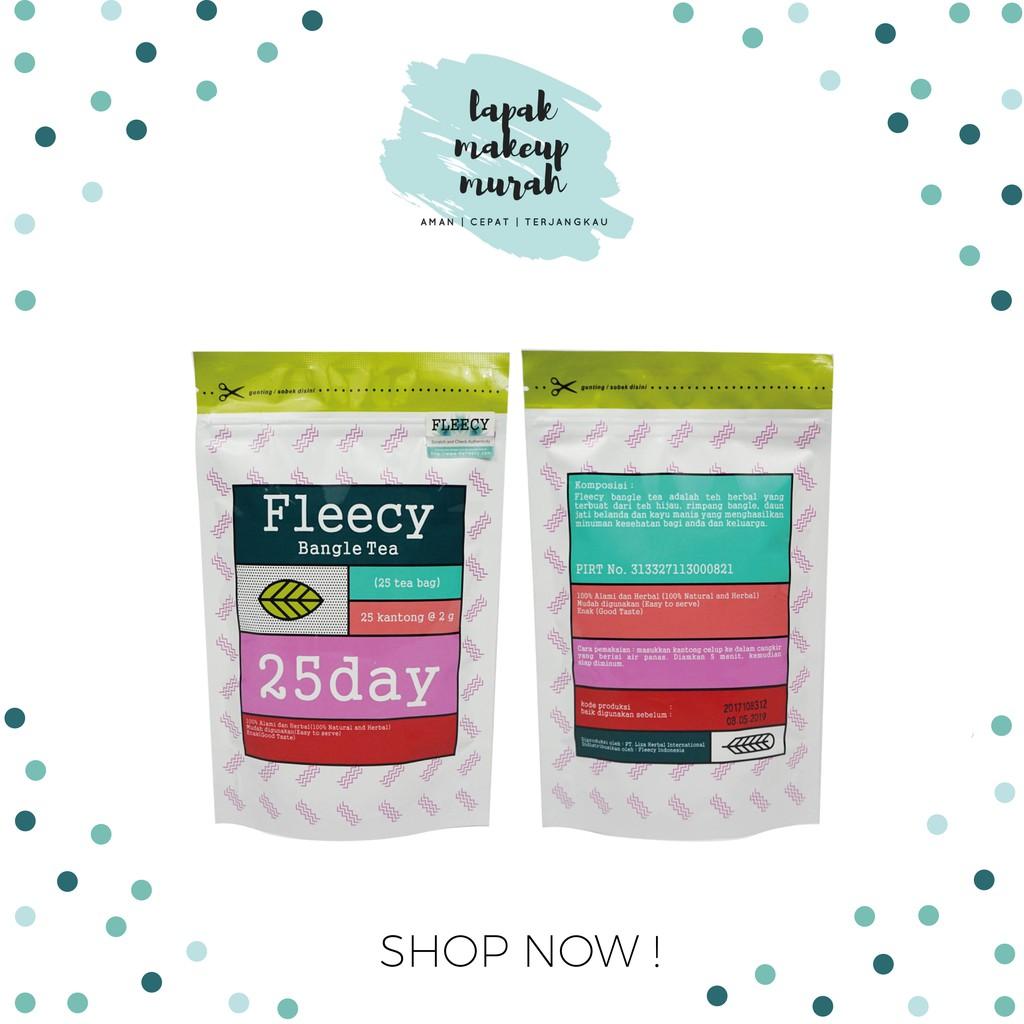Fleecy Bangle Tea Original Terdaftar Teh Pelangsing Shopee Indonesia Obat Badan