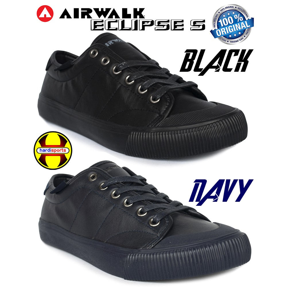 Sepatu Airwalk Original Sneaker Casual Keanu Mono Black Sepatu sekolah  36dbf8a7a2