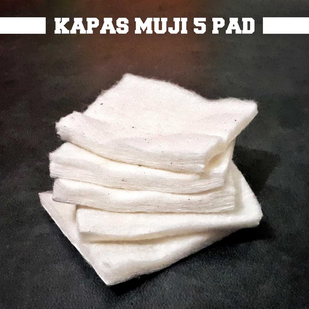 Muji Kapas Organik Organic Cotton Per 15 Helai Pads Japanese Jepang Authentic Original Impor Ecru Vape Vapor Japan Shopee Indonesia