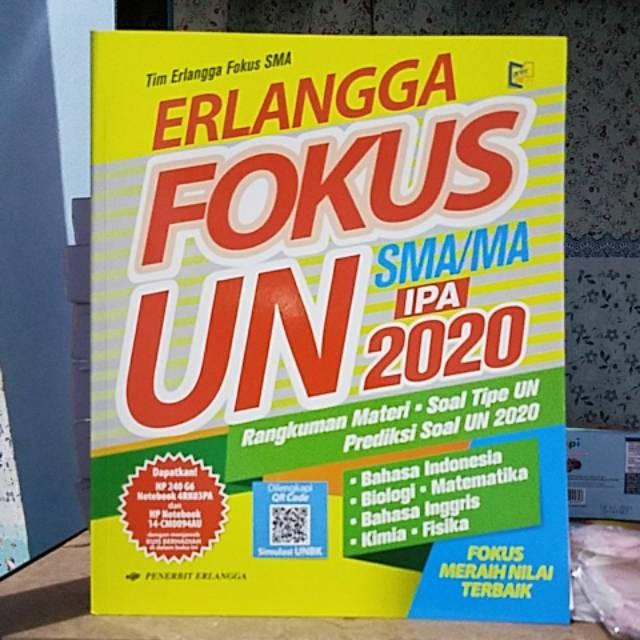 Erlangga Fokus Un Sma Prog Ipa 2020 Kunci Jawaban 100 Original Shopee Indonesia