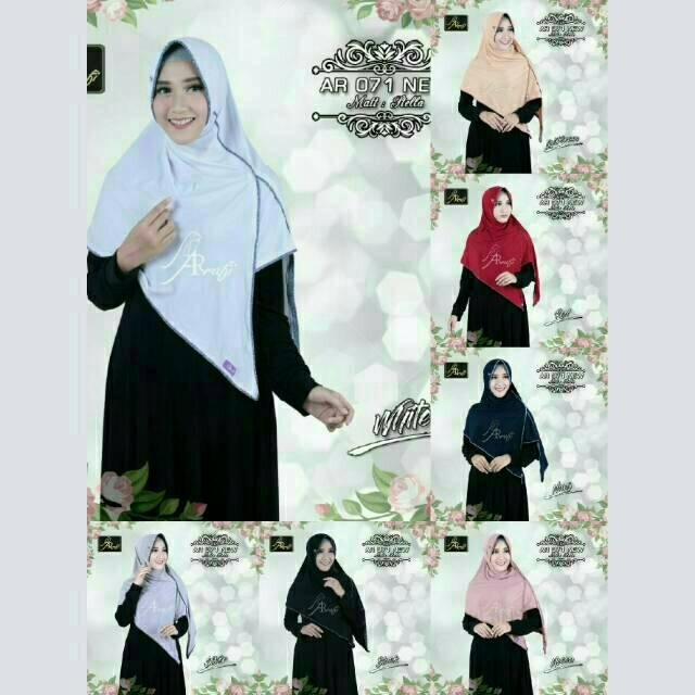 [ ORI ARRAFI ] Bergo Veena AR71N - best seller hijab jilbab instan kerudung best seller | Shopee Indonesia