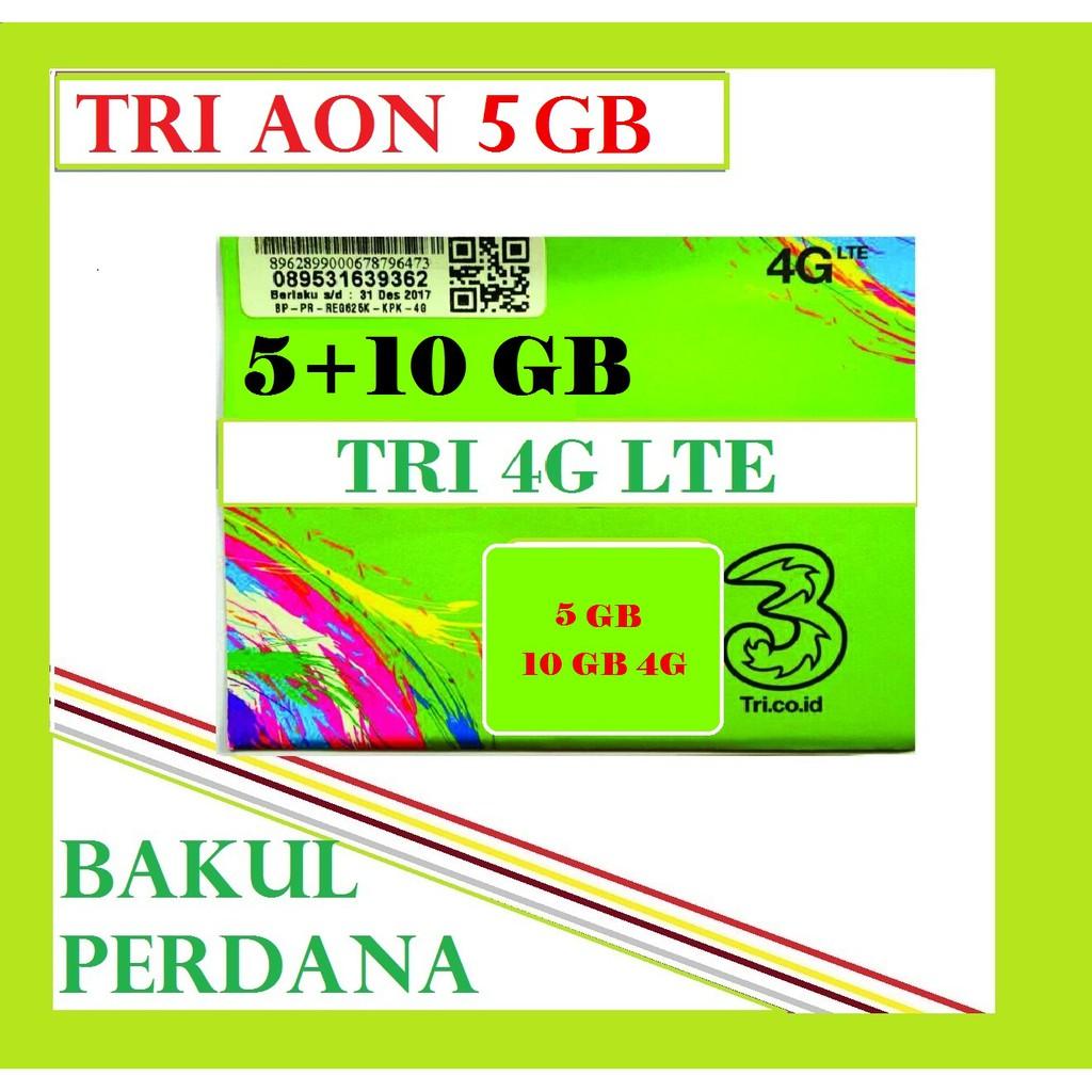 Promo Perdana Tri Aon 35gb 5 10 20 Gb Expired 30 Okt 2018 Shopee Voucer Paket Internet 3 Indonesia