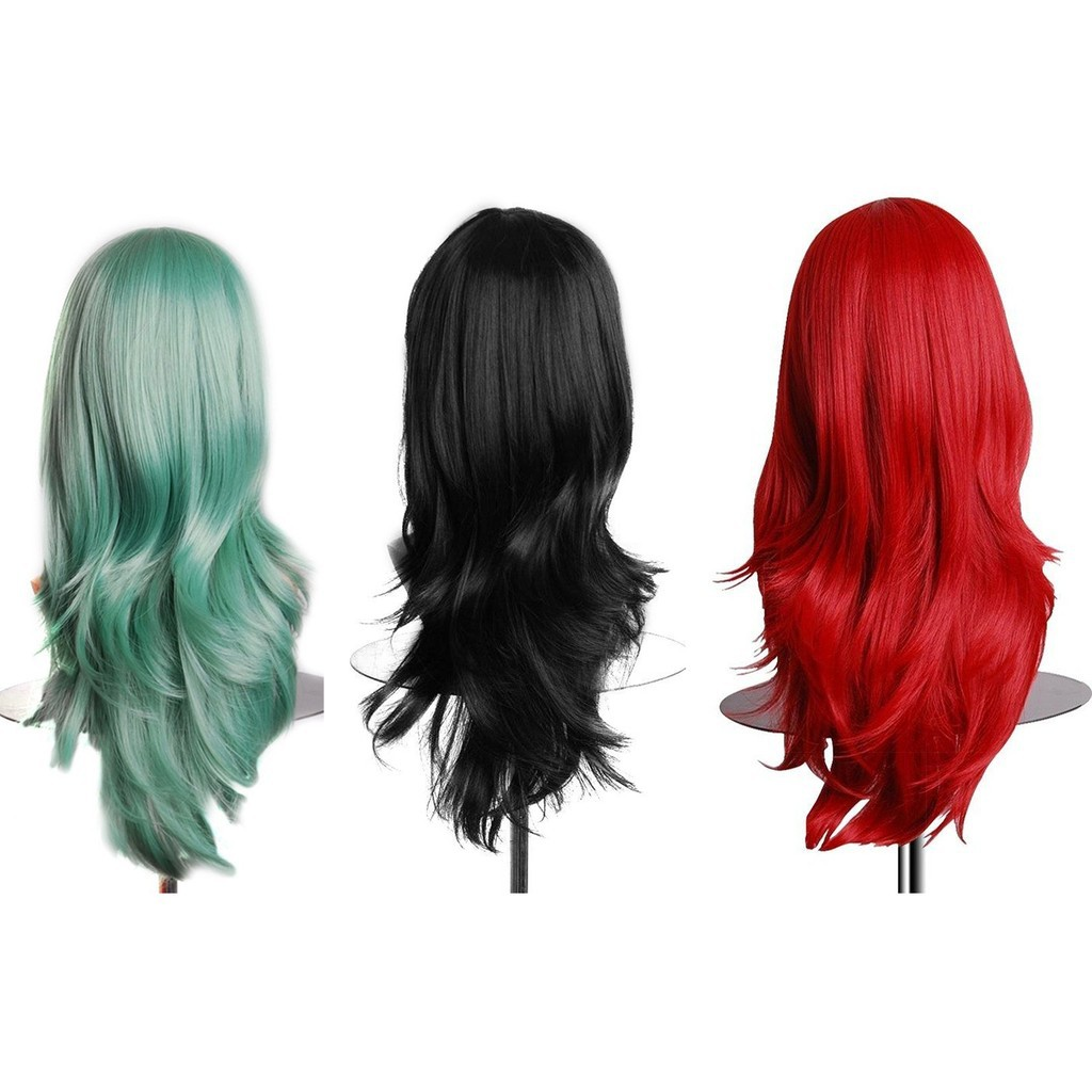 Wig Rambut Keriting Lembut Fiber Bersuhu Tinggi Cosplay  53513fe1d1