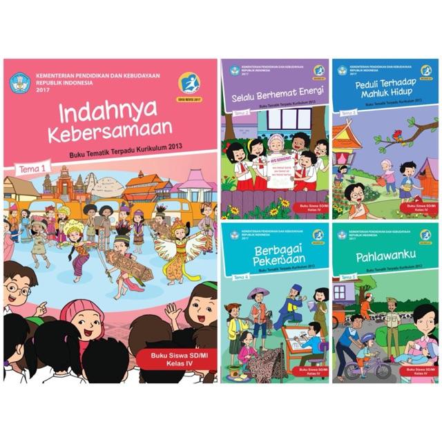 Paket Tematik Kelas 4 Sd Diknas Semester 1 Tema 1 2 3 4 5 Revisi 2017 Shopee Indonesia