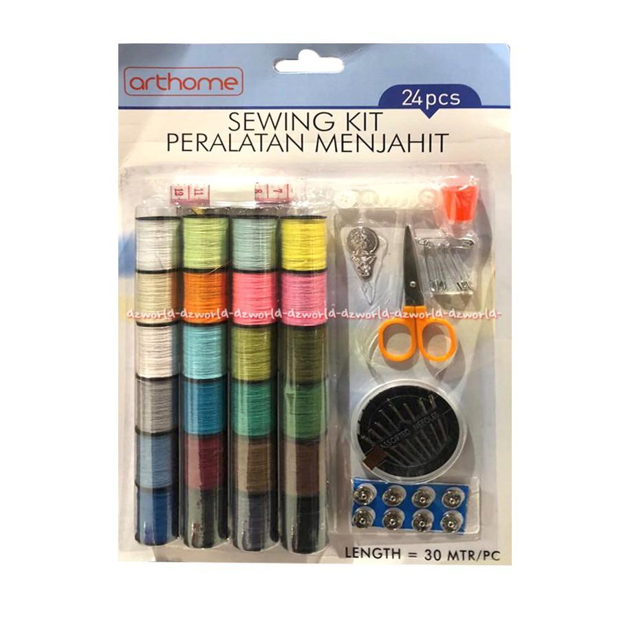Sewing Kits Benang Mata Nenek Gunting Peralatan Menjahit Benang Set