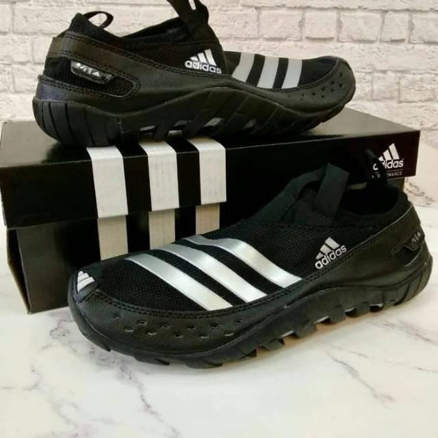 Sepatu Outdoor Adidas Climacool Jawpaw Slip On Black White