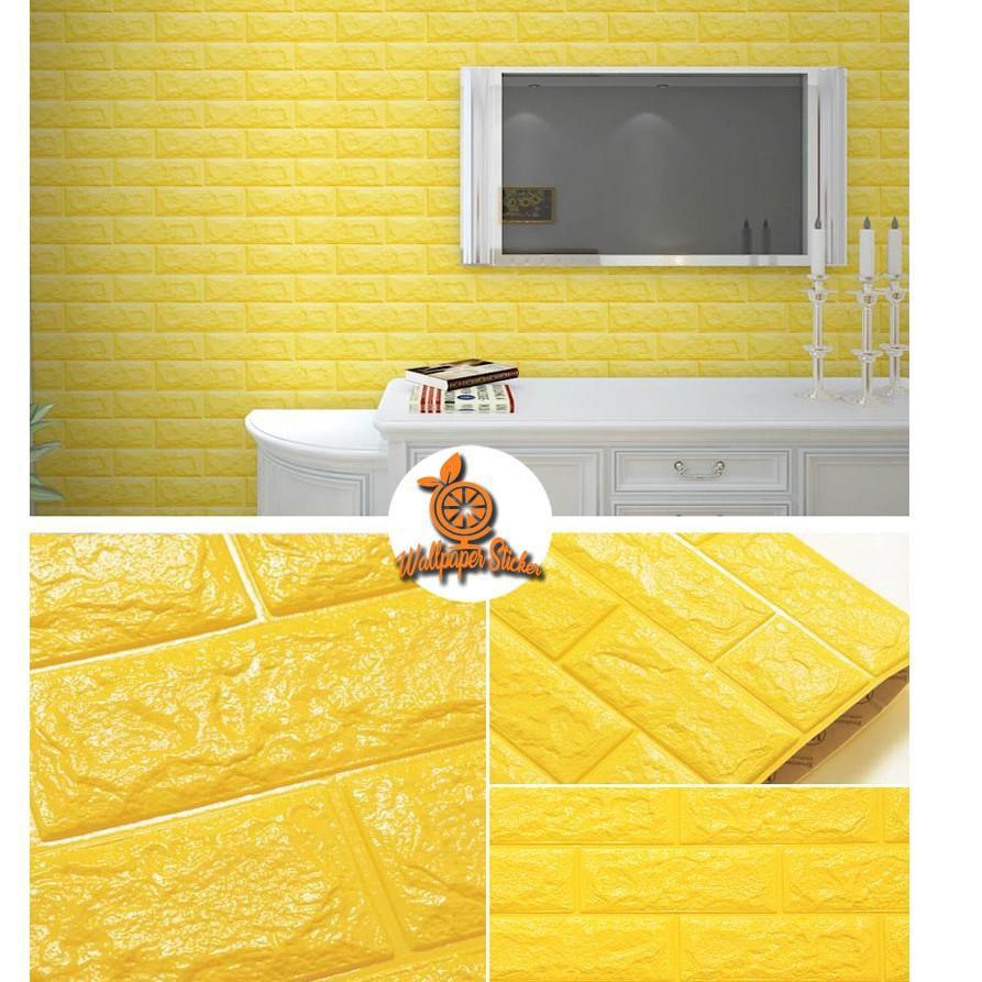 Wallpaper 3D Modern Foam Batu Bata 70 X 77cm / Brick Foam