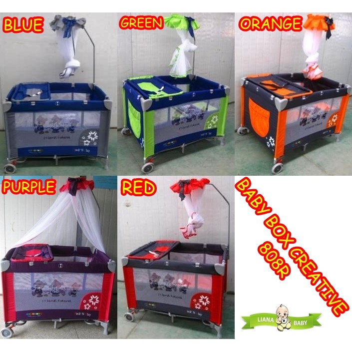 BABY BOX PLIKO CREATIVE 808R RANJANG TEMPAT TIDUR BAYI 808 bisa gojek murah | Shopee Indonesia