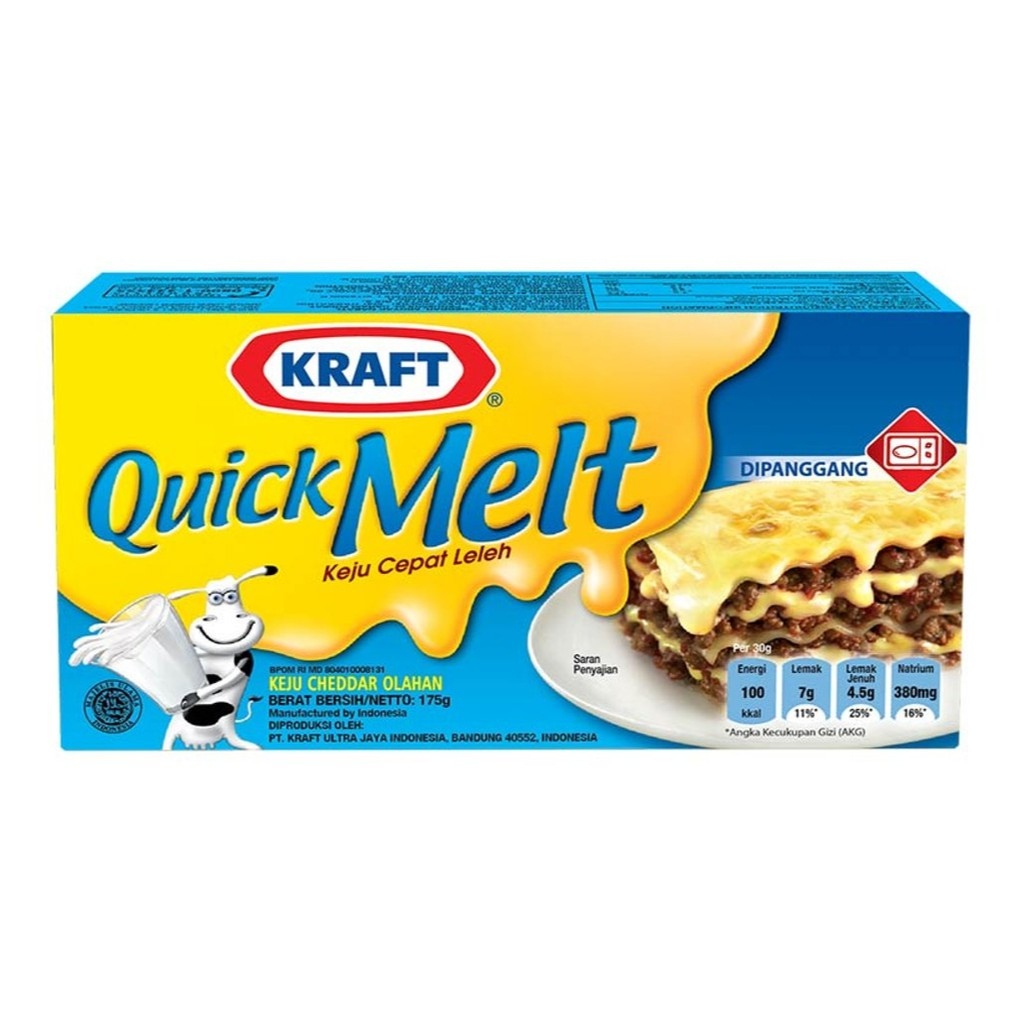 Kraft Quick Melt 175gr Keju Leleh Panggang Melted Cheese Prochiz 5 Slice Easy Shopee Indonesia